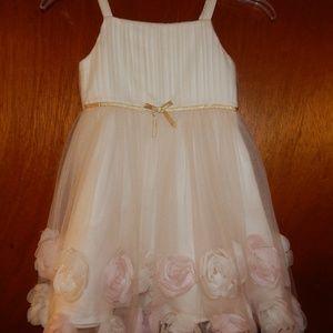 GIRLS MONSOON CREAM EASTER FLOWER GIRL DRESS 6